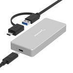 Sabrent USB 3.1 Aluminum Enclosure for M.2 NVMe SSD in Gray (EC-NVME)