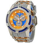 Invicta Reserve Bolt Zeus Blue, Orange Dial Men's Chronograph Watch 27642