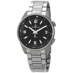Jaeger LeCoultre Polaris Black Dial Automatic Men's Steel Watch 9008170